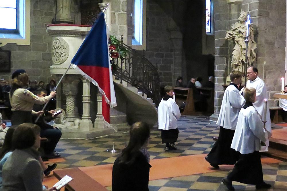 Oslavy 100 let od vzniku ČSR vyvrcholily mší svatou v bazilice