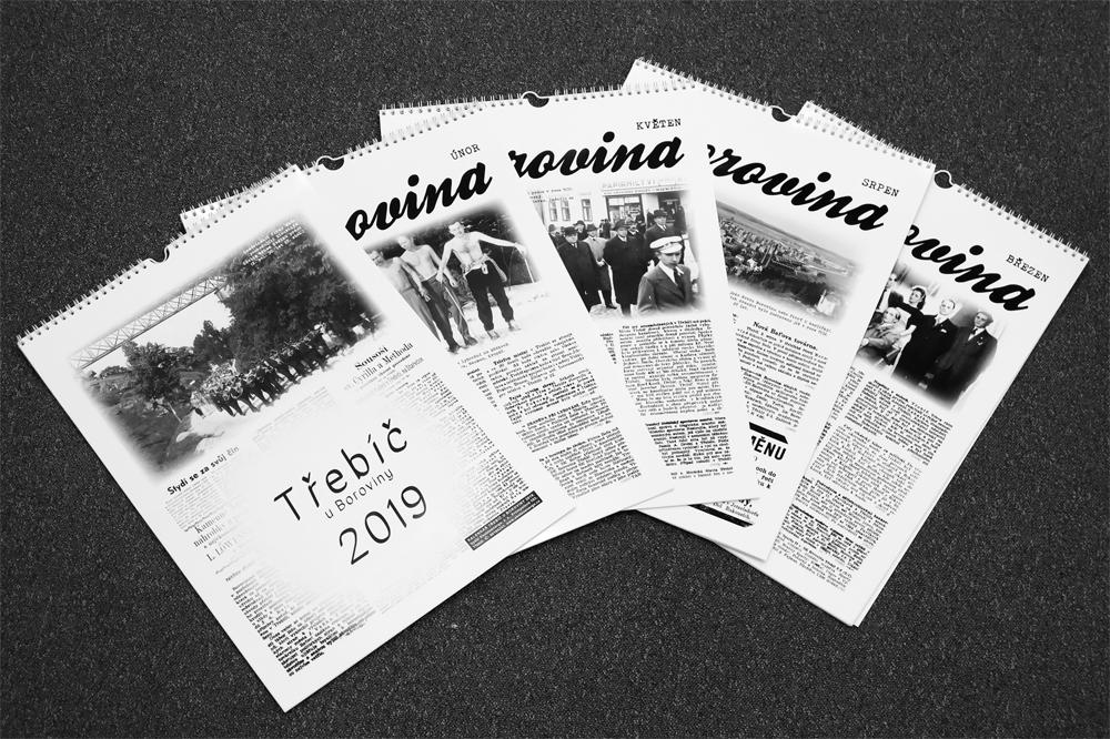 Kalendář o staré Borovině plný dobových novinových článků