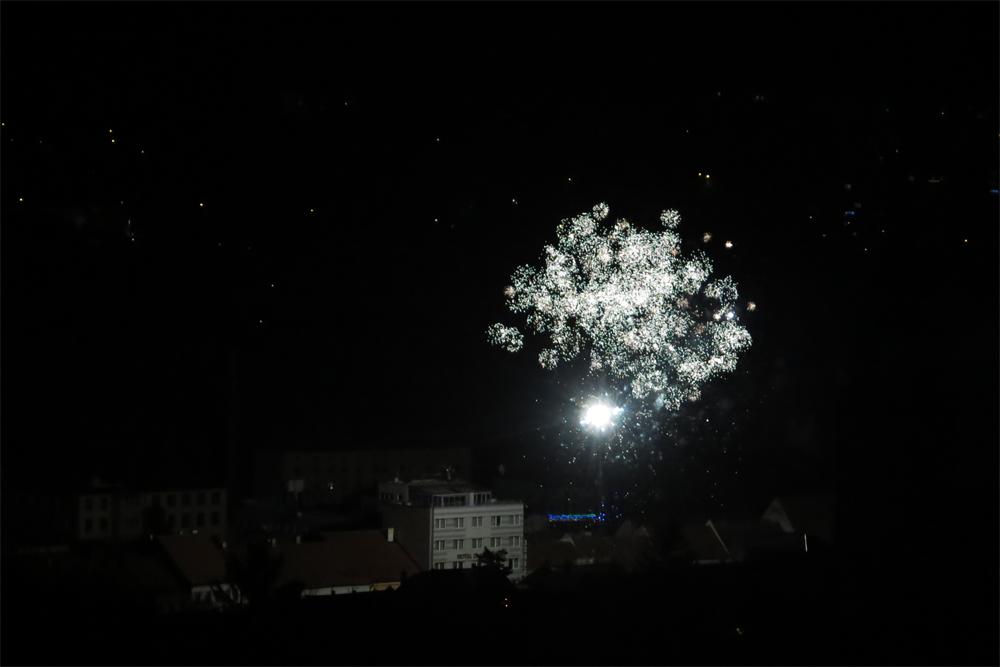 Třebíčané přivítali ohňostrojem Nový rok