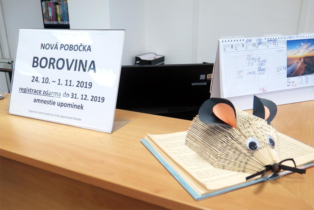 Borovinská pobočka knihovny se přestěhovala do nových prostor